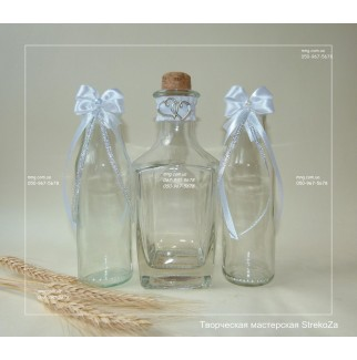 Silver & white: набор для песочной церемонии