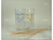 Колбы с сердечками: ручная роспись