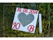Рамка с датой свадьбы, инициалами