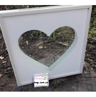 Сердце: рамка для песочной церемонии